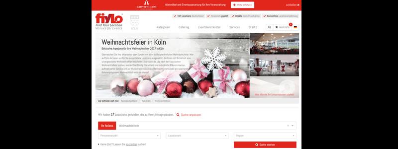 Weihnachtsfeier Location fiylo.de