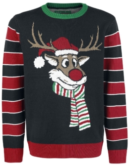 Pooping Rudolph Strick-Sweater