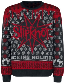 Slipknot Holiday Sweater 2017 Strick-Sweater schwarz/rot