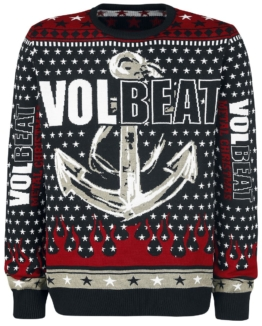 Volbeat Holiday Sweater 2017 Strick-Sweater schwarz/rot/gelb