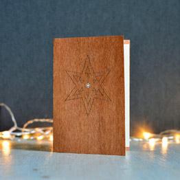 Weihnachtskarten mit Holz