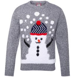 3D Marl Schneemann Weihnachts Pullover Geschenk festlich Party Top