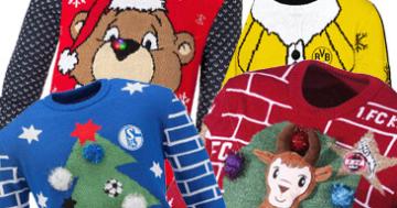 Fußball Weihnachtspullover Bundesliga Vereine