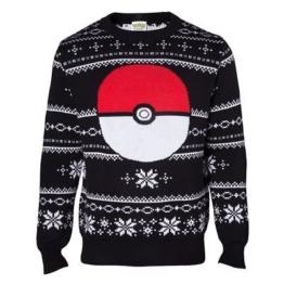 offiziell lizenziert Unisex Pokemon Detail schwarz gestrickt Weihnachts Pullover