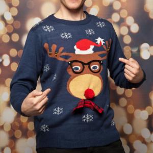 Weihnachtspullover Herren Rudolph
