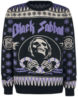 Black Sabbath Holiday Sweater 2017 Strick-Sweater schwarz/lila