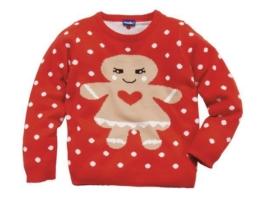 Lupilu Mädchen Weihnachtspullover rot Langarmshirt