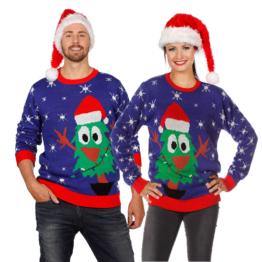 Pärchen Weihnachtspullover Tannenbaum Ugly Christmas Sweater