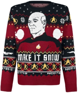 Star Trek Make It Snow Weihnachtspullover Picard