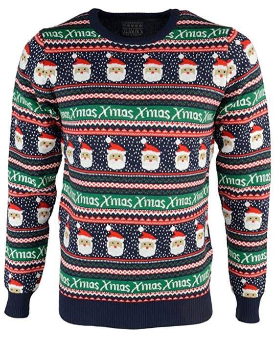 Kids Weihnachten Fussball Schneemann Winter Pulli Kinder Pullover Sweatshirt