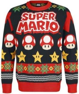 Mario Mushrooms Power Star Weihnachtspullover