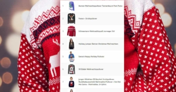 TOP 10 Weihnachtspullover 2018
